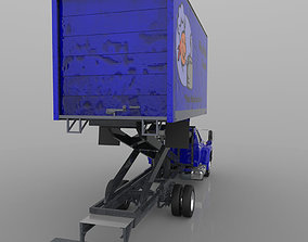 3D Airport Supply Truck Poser