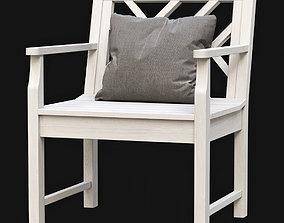 Chippendale Garden Armchair 3D asset