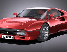 HQ LowPoly Ferrari 288 GTO 1984-1987 3D model
