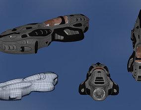 3D asset Futuristic Speedboat