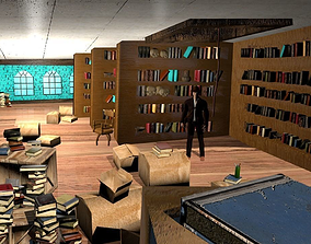 Indiana Jones Barnett College Library 3D model