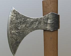 3D asset game-ready Viking Throwing Axe