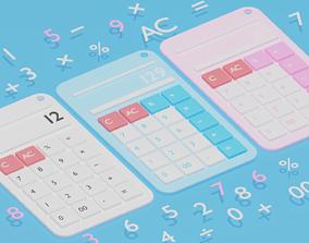 3D model Cartoon Calculator