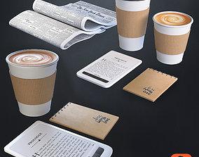 3D Coffee decorative set