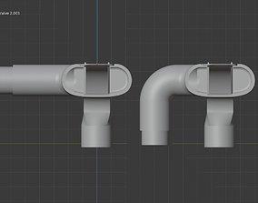 3D printable model adapter respiratory mask valve