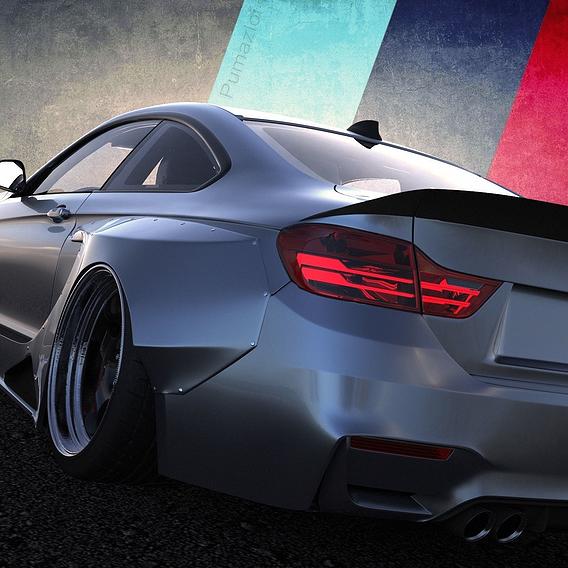 Custom BMW M4 CSL Stance Version