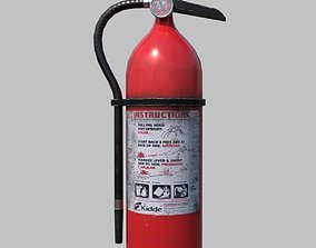 Low Poly Fire Extinguisher 3D model