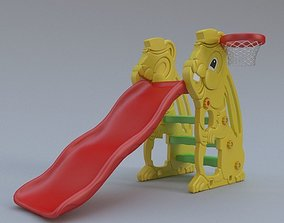 Playground Slide Bunny Theme 3D