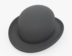 3D model low-poly Bowler Hat