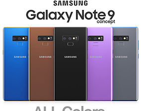 Samsung Galaxy Note 9 All colors 3D