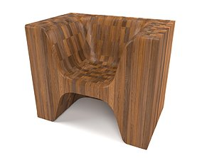 3D model realtime lh wooden sofa