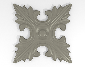 Rosasse or rosette ornement HD Model for CNC or Printer