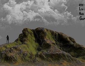 3D model game-ready granite Rock