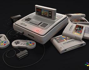 3D asset low-poly SNES - Super Nintendo
