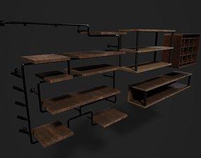 3D asset Wine Shelves