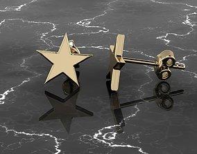 3D printable model Jewelry Earring Star Shape