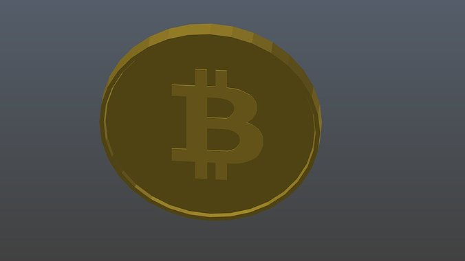 low-poly-bitcoin-3d-model-low-poly-obj-3