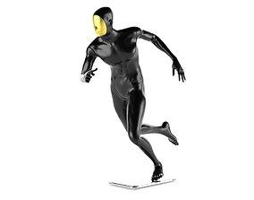 3D model Run man mannequin