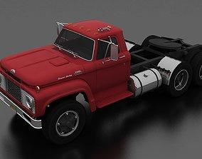 3D asset T-Series T-850 Semi Truck Tandem Axle 1964
