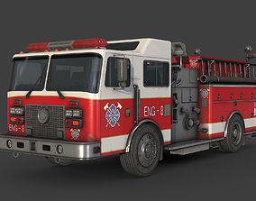 3D asset realtime Fire Truck