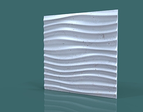 3d wall wave seamless model
