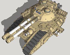 3D print model 6mm-scale FellKnife Superheavy Tank