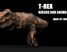 Tyrannosaurus Rex Model Rigged animated game-ready