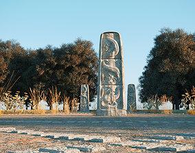 3D model Ancient stone sculpture