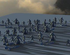 3D Big army Charging low res models