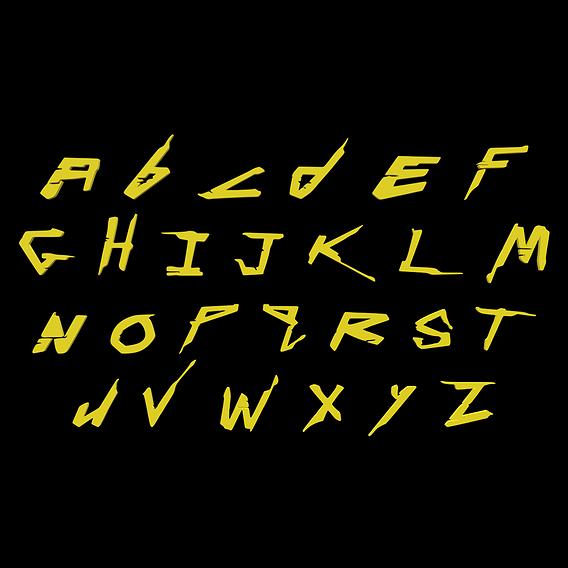 Stylized Cyberpunk 2077 Font