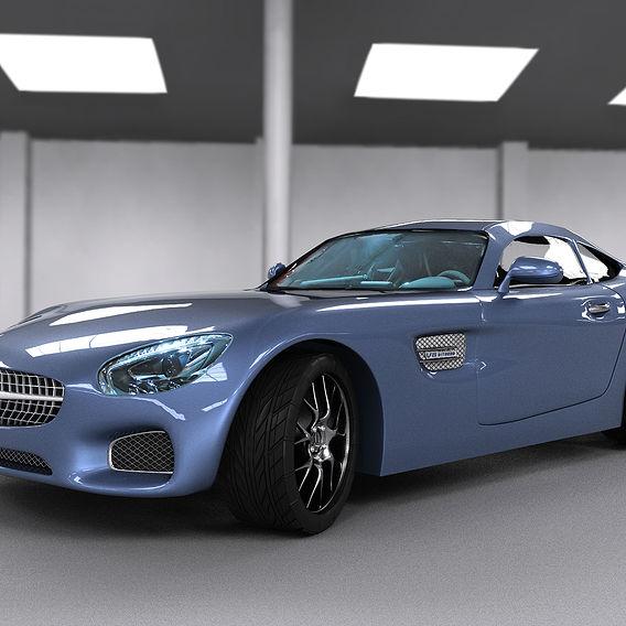 Mercedes Amg Gt %100 Modeling