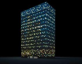 Dark Metal Rectangular Skyscraper 3D