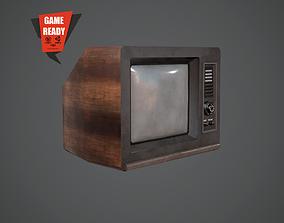 TV Retro PBR LowPoly 3D asset