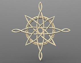 Celtic north star CNC 3D print model