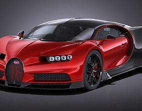 3D model LowPoly Bugatti Chiron Sport 2019