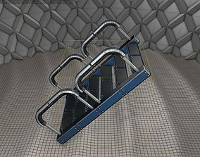 3D asset Sci-Fi Stairs - 27 - Blue Version