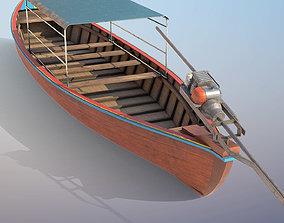 Long Tail Boat 3D asset