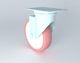 3D model caster industrial