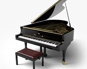 Grand Piano instrument 3D model