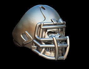 3D printable model Skull football ring