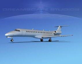 Embraer ERJ-140 Bare Metal 3D model