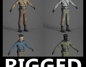 animated Rigged Terrorist separatist 3d model
