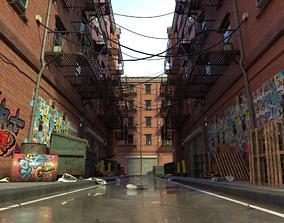 New York Alleyway Assets 3D