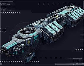 Intersolar Cargoship 3D asset