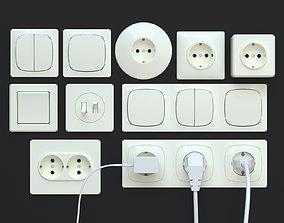 3D model electronics socket