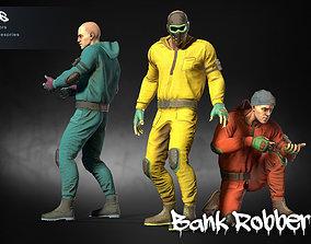 Bank Robber 01 3D asset