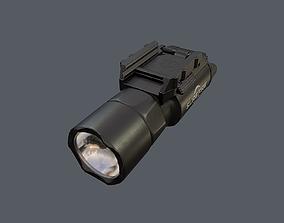 Weapon mounted light SureFire X300U-A Ultra 3D model
