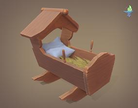 Rocking Cradle 3D model game-ready
