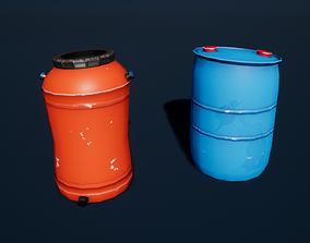 3D model Stylized Plastic Barrels