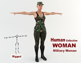 3D Military Woman 1